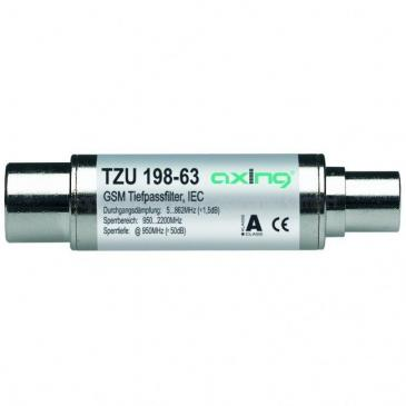 TZU19863 GSM-TIEFPASSFILTER, IEC-ANSCHLÜSSE, 5-862 MHZ AXING AXING