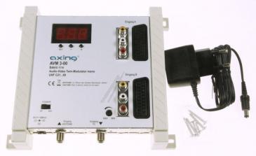 AVM300 TWIN AV-MODULATOR,MONO,UHF/VHF AXING