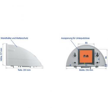 MXOPTWH OPTWH OUTDOOR-WANDHALTER, D22/24 IT/SEC, Q22/24 SEC MOBOTIX