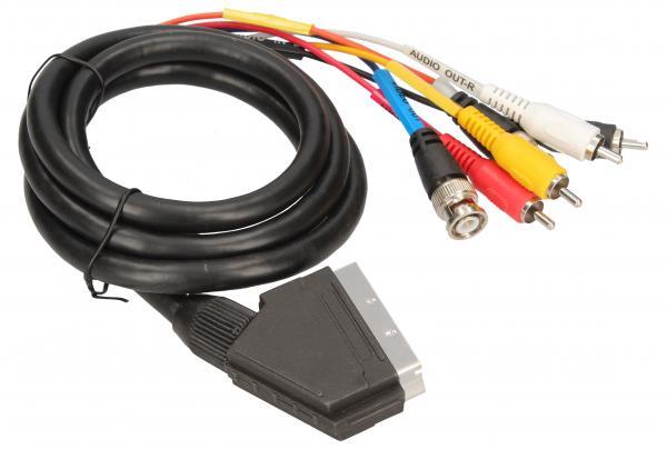 Kabel SCART - BNC (wtyk//CINCH wtyk x2/wtyk x4),0