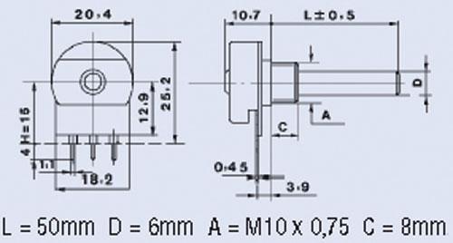 Potencjometr 10K0,4W,0