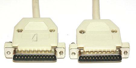 Kabel LPT 25 pin 5m (wtyk/ wtyk) standard,0