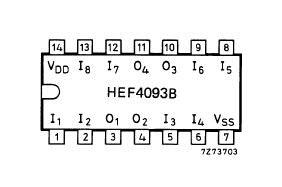 HEF4093BT Układ scalony IC,0