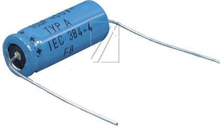 10uF | 450V Kondensator elektrolityczny (osiowy) 85°C 25mm/12mm,0