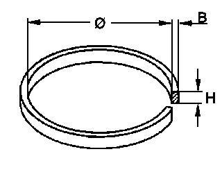 Pasek napędowy (płaski) 21mm x 4.5mm,0