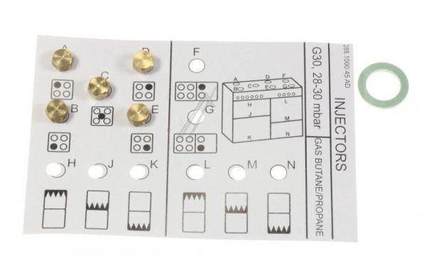 4431930003 G30_28-30-INJECTOR GR-4G+W ARCELIK,0