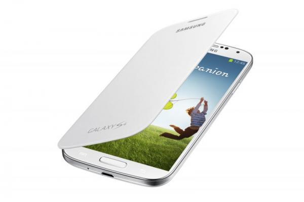 Pokrowiec   Etui Flip Cover do smartfona Samsung Galaxy S4 EFFI950BWEGWW (białe),0