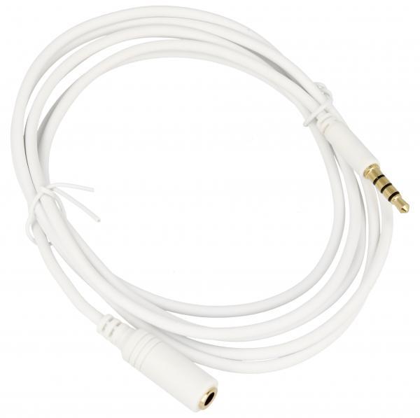 Kabel 1.5m JACK 3.5mm 4 pin - JACK (wtyk/3.5mm 4 pin gniazdo),0