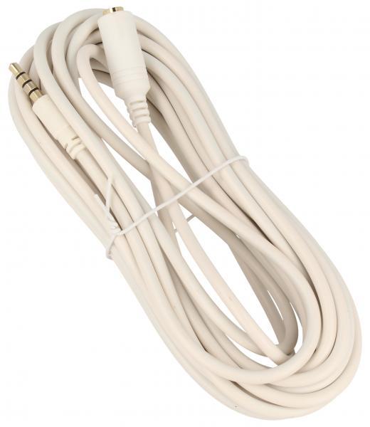 Kabel 5m JACK 3.5mm 4 pin - JACK (wtyk/3.5mm 4 pin gniazdo),0
