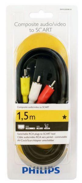 Kabel 1.5m SCART - CINCH (wtyk/ wtyk x3) SWV2255W10,0