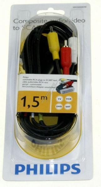Kabel 1.5m SCART - CINCH (wtyk/ wtyk x3) SWV2255W10,2