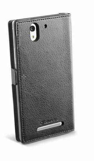 Pokrowiec | Etui classic Wallet Book Case sztuczna skóra do smartfona Sony Xperia C3 Cellular line 363811 (czarny),1