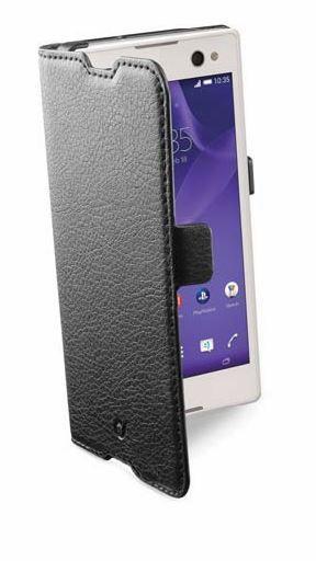 Pokrowiec | Etui classic Wallet Book Case sztuczna skóra do smartfona Sony Xperia C3 Cellular line 363811 (czarny),2