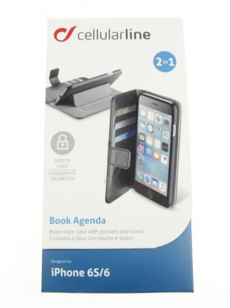 Pokrowiec | Etui gelly Wallet Book Case do smartfona Apple Iphone 6 Cellular line 35389 (białe),2