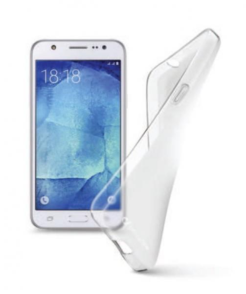 Pokrowiec   Etui silikonowe do smartfona Samsung Galaxy J2 Cellular line 37211 (przezroczysty),0