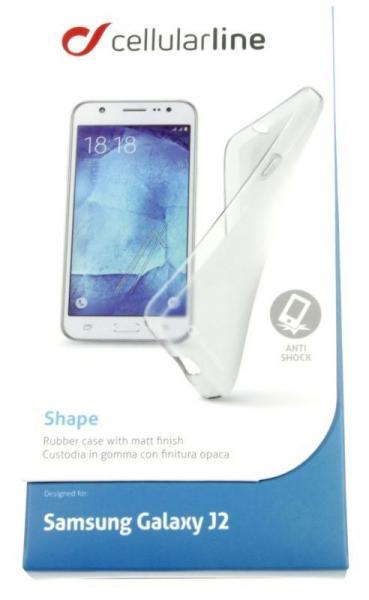 Pokrowiec   Etui silikonowe do smartfona Samsung Galaxy J2 Cellular line 37211 (przezroczysty),1