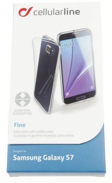 Pokrowiec | Etui silikonowe do smartfona Samsung Galaxy S7 Cellular line 37353 (przezroczysty),1