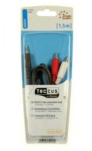Kabel 1.5m CINCH (wtyk x2) - JACK 3.5mm stereo (wtyk) 30189,0