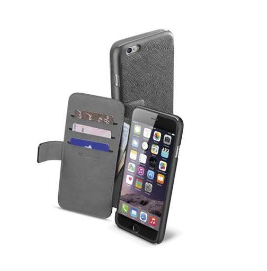 Pokrowiec   Etui classic Wallet Book Case do smartfona Apple Iphone 6 plus Cellular line 36079 (czarne),0