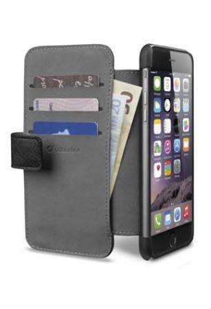 Pokrowiec   Etui classic Wallet Book Case do smartfona Apple Iphone 6 plus Cellular line 36079 (czarne),1