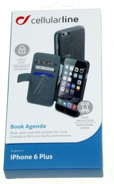 Pokrowiec   Etui classic Wallet Book Case do smartfona Apple Iphone 6 plus Cellular line 36079 (czarne),3