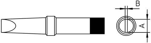 PT-B9 Grot 2.4mm do lutownicy 4PTB91 Weller,0