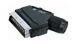Adapter SCART - DIN (wtyk/ gniazdo) standard,0
