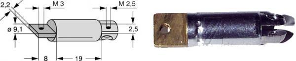 uchwyt anteny telesk. 9mm,0