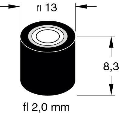 Rolka dociskowa 2mm x 13mm x 8.3mm,0