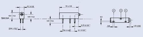 20K   0.75W Potencjometr 70° ceramiczny precyzyjny wieloobrotowy,0