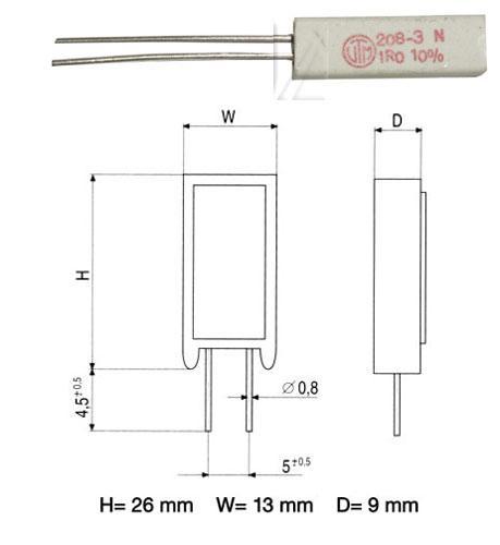 1R | 5W | Rezystor drutowy cwr5 1,0R-5,0W,0
