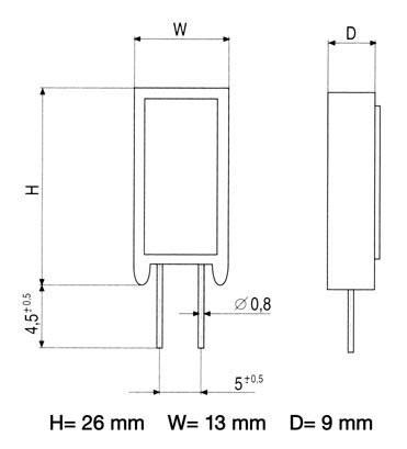 3.3R | 5W | Rezystor drutowy cwr5 3,3R-5,0W,0