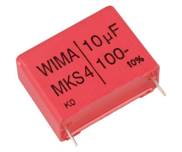 10uF   100V Kondensator impulsowy MKS4 WIMA,0