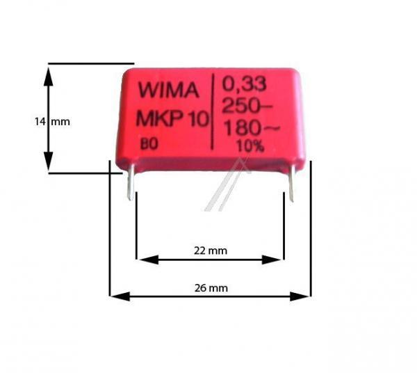 330nF   250V Kondensator impulsowy MKP10 WIMA 15mm,0