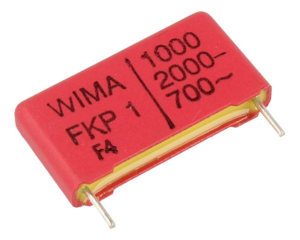 1nF | 2000V Kondensator impulsowy FKP1 WIMA 14mm,0