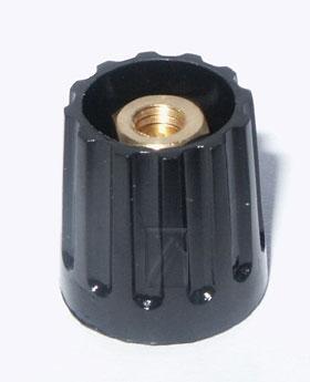 14MM pokrętło 14mm na oś 6mm czarne,0