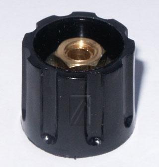 21MM pokrętło 21mm na oś 6mm czarne,0