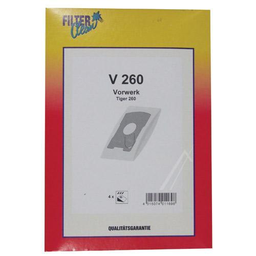 Worek V260 do odkurzacza 4szt. - oryginał: 000790K,0