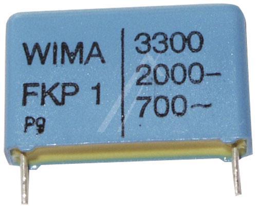 3.3nF | 2000V Kondensator impulsowy FKP1 WIMA 16.5mm,0