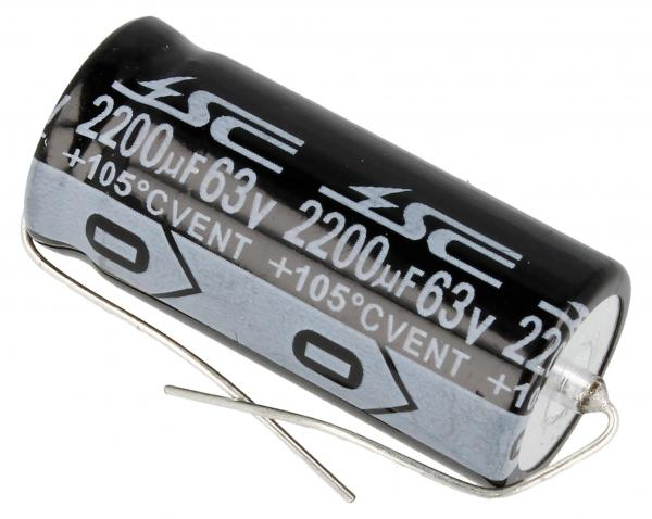 2200uF | 63V Kondensator elektrolityczny (osiowy) 85°C 40mm/22mm,0