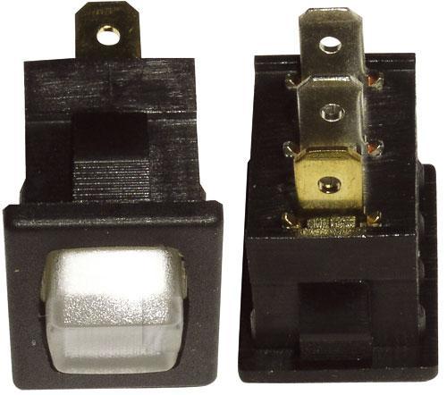 włącznik biały 3-złącza 10a 13x19,3mm,0