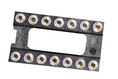 DIL14 podstawka precyzyjna  rm=2,54mm,0