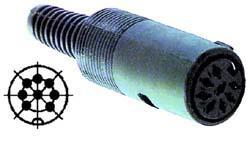 Gniazdo DIN 8 pin 270°,0
