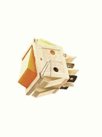 00815112 włącznik żółty 2-polig 16a 22x30mm,0