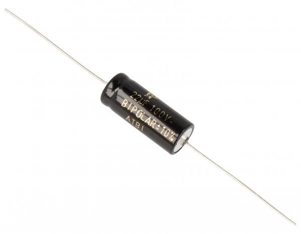 22uF   100V Kondensator elektrolityczny bipolarny 85°C 25mm/10mm,0