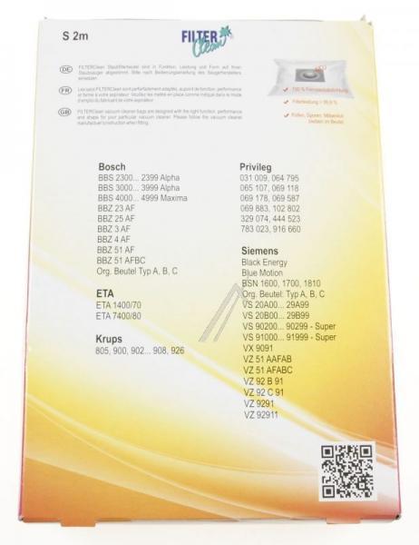 Worek S2/10M do odkurzacza 4szt. - oryginał: FL0028K,1