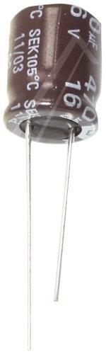 470uF | 16V Kondensator elektrolityczny 105°C 12mm/10mm,0