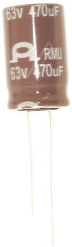 470uF | 63V Kondensator elektrolityczny 105°C 25mm/13mm,0