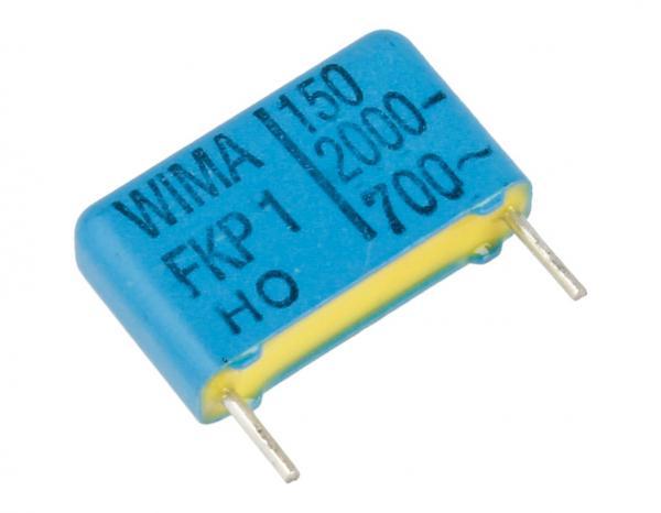 150pF | 2000V Kondensator impulsowy FKP1 WIMA 11mm,0