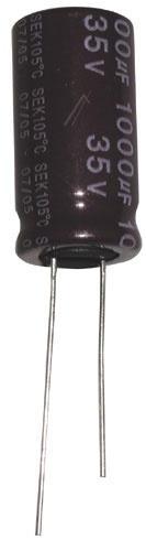 1000uF | 35V Kondensator elektrolityczny 105°C 25mm/13mm,0